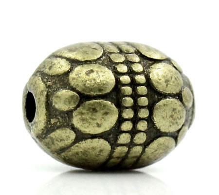 5x Bronzen Kraal 8 mm