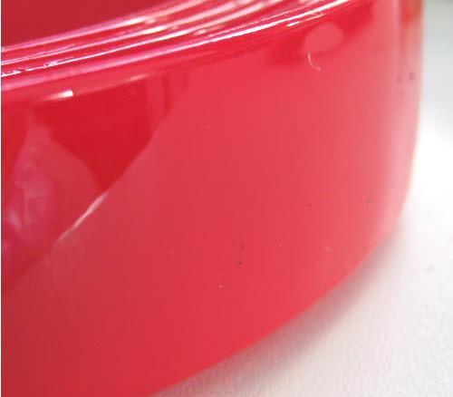 1x acryl diadeem Rood 25 mm