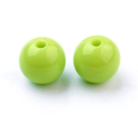 50x Glanzende Acryl kraal Groen