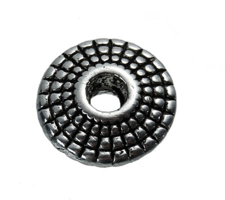 10x Spacerkraaltje Donker Zilver Disc