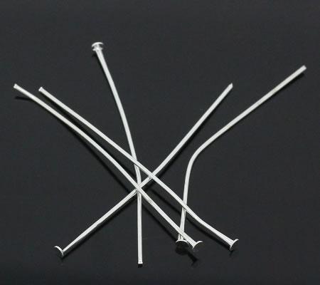 100x lichtzilveren nietstiften 50 mm