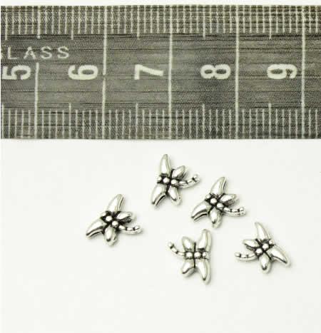 10x Metalen Kleine Libelle