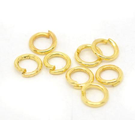 300 stuks Open ring goudkleurig