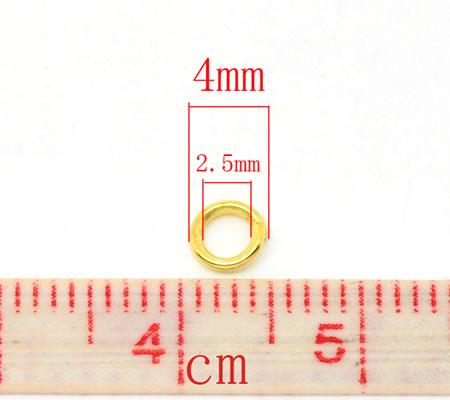 Open Ring Goudkleurig 4 mm