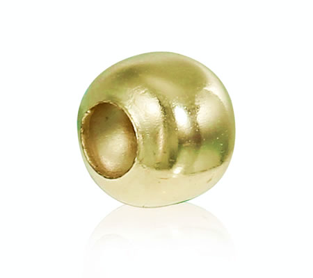 200x Metalen gladde kraal Licht Goud