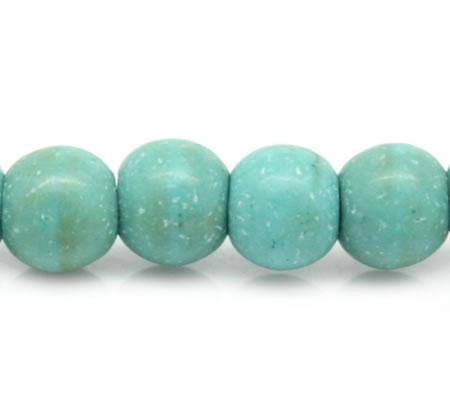 Snoertje 100 stuks Howliet Kraal Turquoise 4 mm
