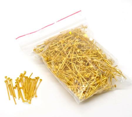 700x nietstiften goudkleurig 20 mm