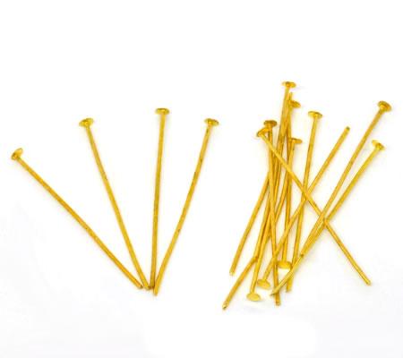 400x nietstiften goudkleurig 35 mm