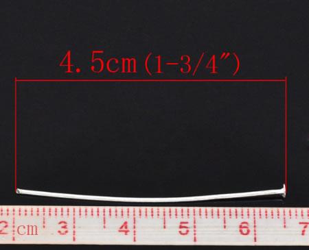 100x nietstiften lichtzilver 45 mm