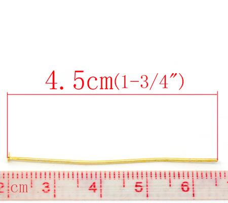 100x nietstiften goudkleurig 45 mm