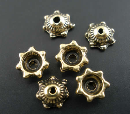 50x Kralenkapjes Licht Brons
