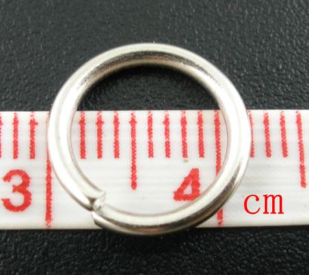 20 stuks Open ring Donker Zilver 12 mm