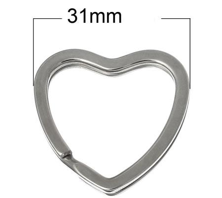 Sleutelhanger Hart donker zilver