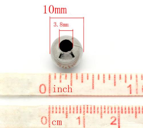 5x Metalen spacerkralen Donker zilver