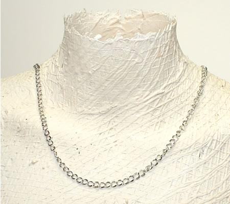 4 meter donker zilveren ketting