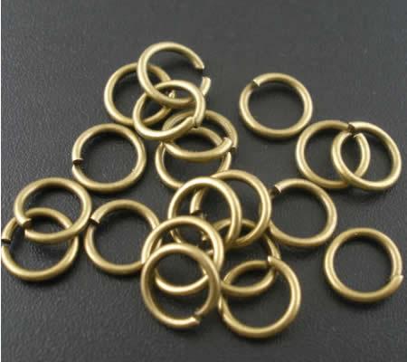 50 stuks Open Ring 8 mm Brons