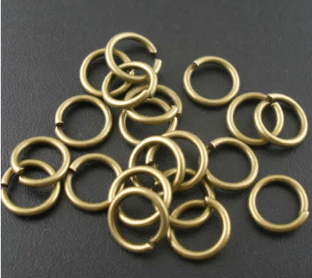 50 stuks Open Ring brons 7 mm