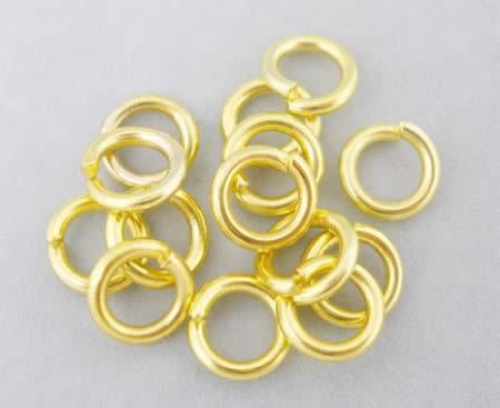 50 stuks Open ring goudkleurig 8 mm