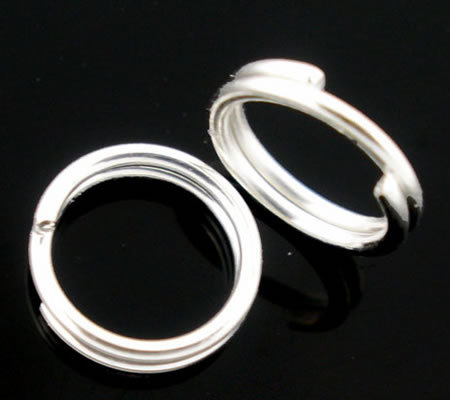 400 x Splitring Licht zilver 8 mm