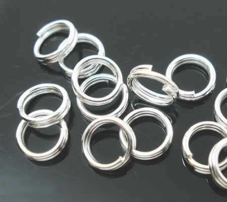 20x Splitring Licht zilver 8 mm