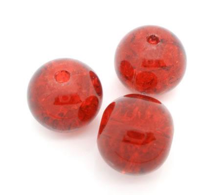 10 stuks glaskralen Rood