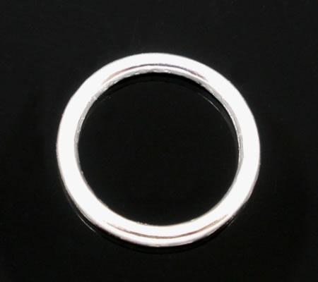 5x Gesloten Ring Licht zilver 14 mm