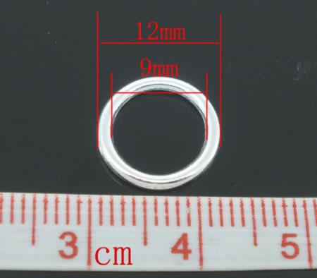 Gesloten Ring Licht Zilver 12 mm