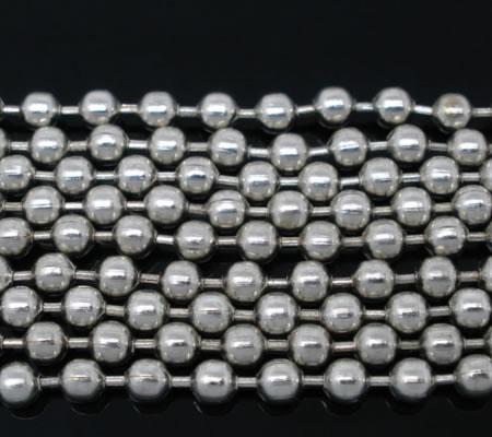 Ballchain donker zilver 3.2 mm