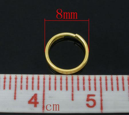 100x Splitringen Goudkleurig 8 mm