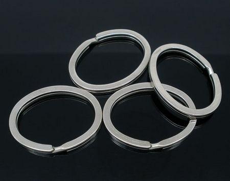 Zware Splitring donker zilver