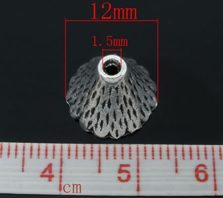 2x Kapjes Donker zilver 12-22 mm