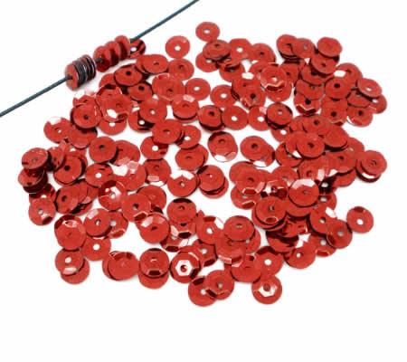 250 stuks Pailletten Rood