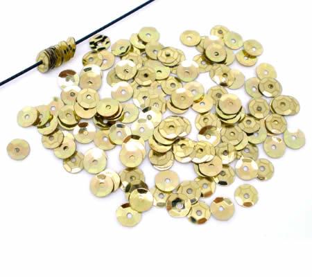 250 stuks Pailletten goud