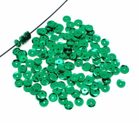 250 stuks Pailletten groen