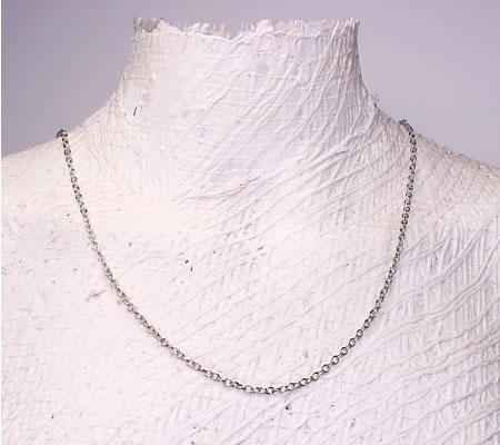 10 meter donker zilveren ketting