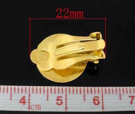2 paar plak oorbellen met clip goudkleurig