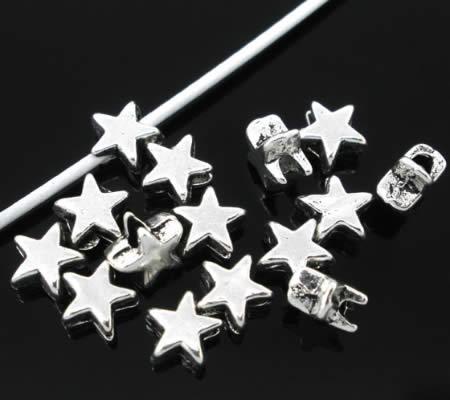 20x kleine sterkraaltjes Donker Zilver