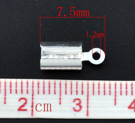 10x koordklem Donkerzilver 5 mm