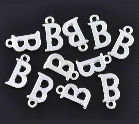 "1x Bedel lichtzilver - letter ""B"""