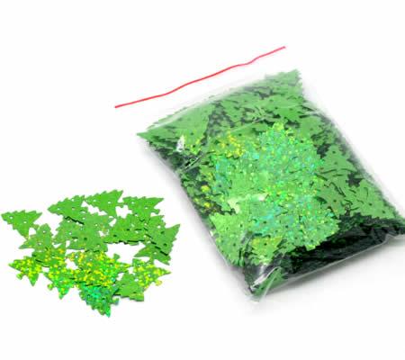 100 stuks Pailletten boompje groen