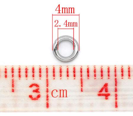 Roestvrijstalen Jumpringen 4mm