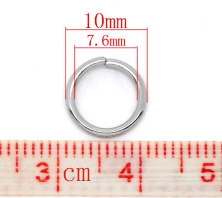 50x roestvrijstalen (304) open ring 10mm