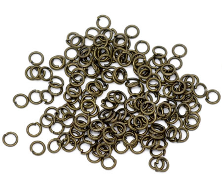 250 stuks open ring brons 4 mm