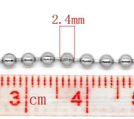 Ballchain donker zilver 1.5 mm