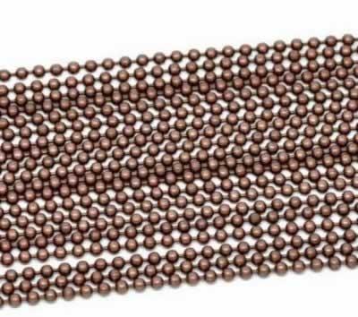 2 meter Ballchain ketting Roodkoper