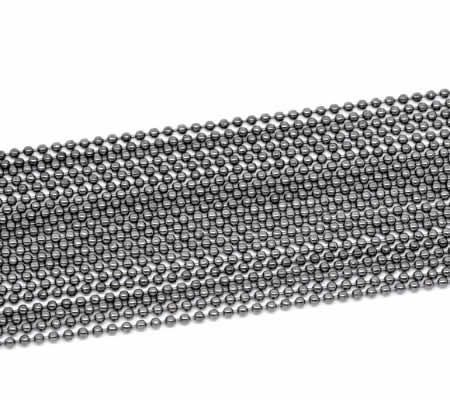 Ballchain Antraciet 2.4 mm
