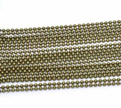 Ballchain Brons 2.4 mm
