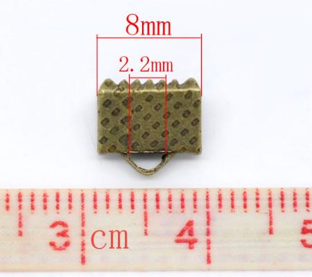 2x Koordklem Brons 8 mm
