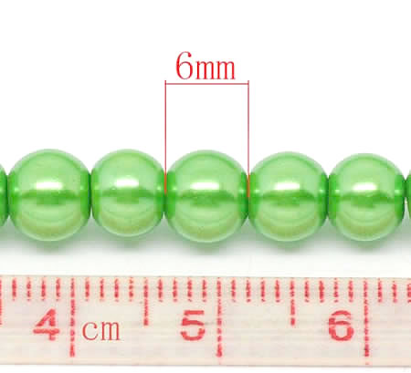 Snoertje Glasparel 6 mm Appelgroen