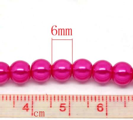 Snoertje Glasparel 6 mm fuchsia